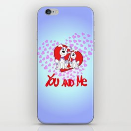 you and me iPhone Skin