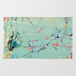 Abstract Painting ; Lagoon Rug