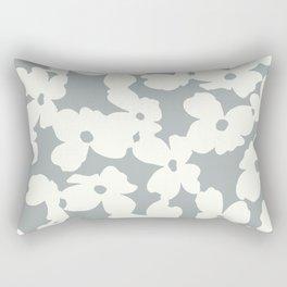 Dogwood: Paloma Gray Rectangular Pillow