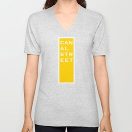 Canal Street - NYC - Yellow Unisex V-Neck