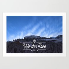 Mountain Sky Wethefree Art Print