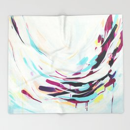 The Healer - Abstract painting #society6 Throw Blanket