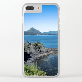 Sky Blue, Oceans Bluer Clear iPhone Case