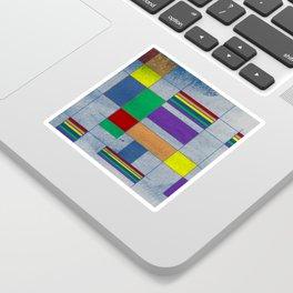 Mid-Century Modern Art - Rainbow Pride 1.0 Sticker
