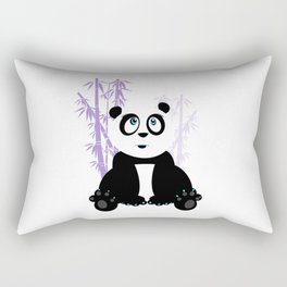 Panda Girl - Purple Rectangular Pillow