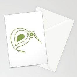 Green kiwi bird from New Zealand artist Stationery Cards
