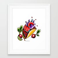 taco Framed Art Prints featuring Taco  by alxbngala