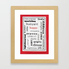 Happy Thesaurus Day Framed Art Print