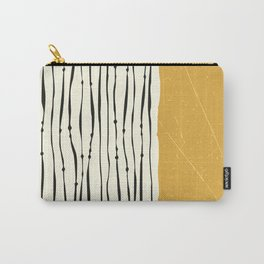 Gold Zebra Stripes Carry-All Pouch