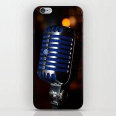 Blue Mic iPhone Skin