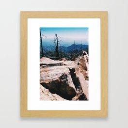 boulders over tucson Framed Art Print