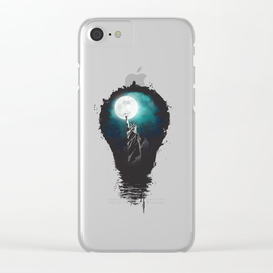 Big city lights Clear iPhone Case