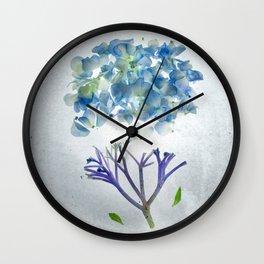 Botanical Blueprints - Hydrangea Wall Clock