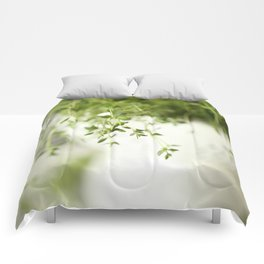 Fresh Herb In A White Pot #decor #society6 Comforters
