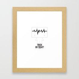 The Ghost Framed Art Print