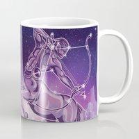 sagittarius Mugs featuring Sagittarius by WesSide