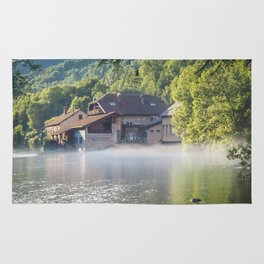 French Jura River - Landscape Photography Rug