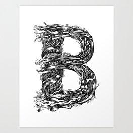 The Illustrated B Art Print