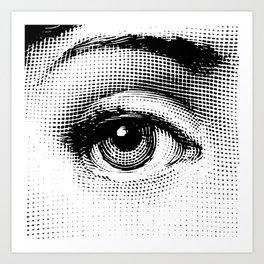 Lina Cavalieri - right eye Art Print