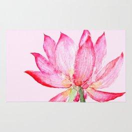 pink lotus flower Rug