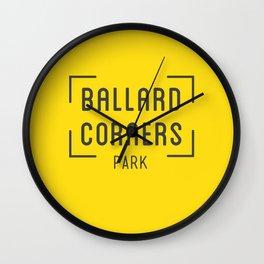 Ballard Corners Park Wall Clock
