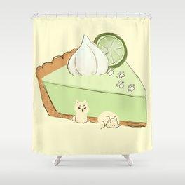 Key Lime Sheebs Shower Curtain