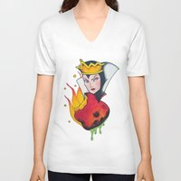 evil queen V-neck T-shirts featuring Evil Queen #1 by Jeef