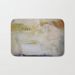 White abstract art  Bath Mat