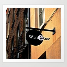The Wine Bar Art Print