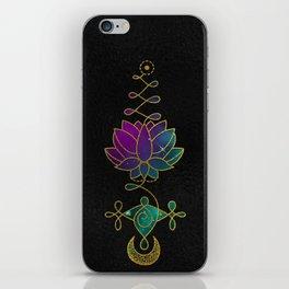 Mystic Colorful Unalome Lotus Symbol iPhone Skin