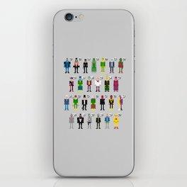 Pixel Supervillain Alphabet iPhone Skin