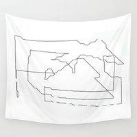 world maps Wall Tapestries featuring Maps  by short stories gallery