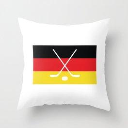 Germany Flag Hockey Icon Throw Pillow