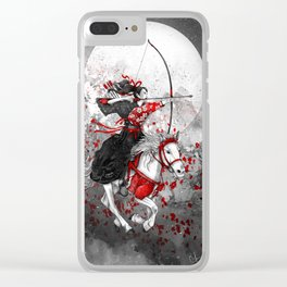 Horse and Rider - Yabusame Clear iPhone Case