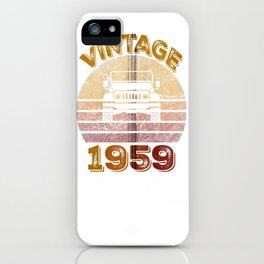 Vintage 1959 Jeeps 60th Birthday Retro Sunset Dad Mom Gift Zip Hoodie iPhone Case