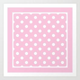 Pink Polka Dots Palm Beach Preppy Art Print