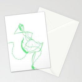 La chica Navidat Stationery Cards