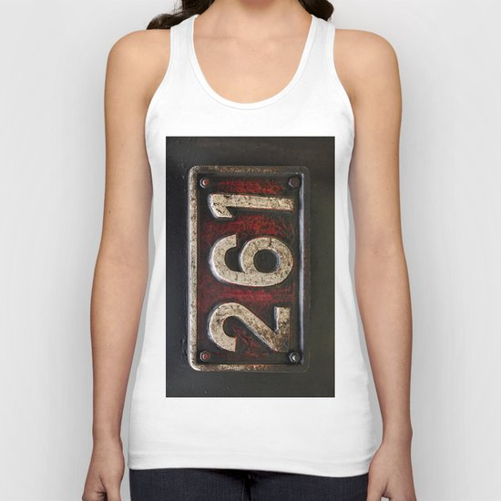 261 number Unisex Tank Top