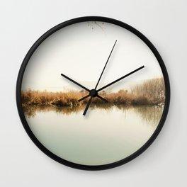 Autumn Lake Scene Wall Clock