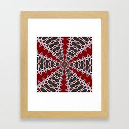 Red Black White Pattern Framed Art Print