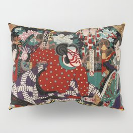 Kabuki Samurai Warriors Pillow Sham