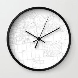 Abstract Map of UC Berkeley Campus Wall Clock