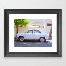Indian Ambassador car in Pondicherry Framed Art Print
