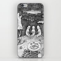 knitting iPhone & iPod Skins featuring Knitting Cats by Ulrika Kestere