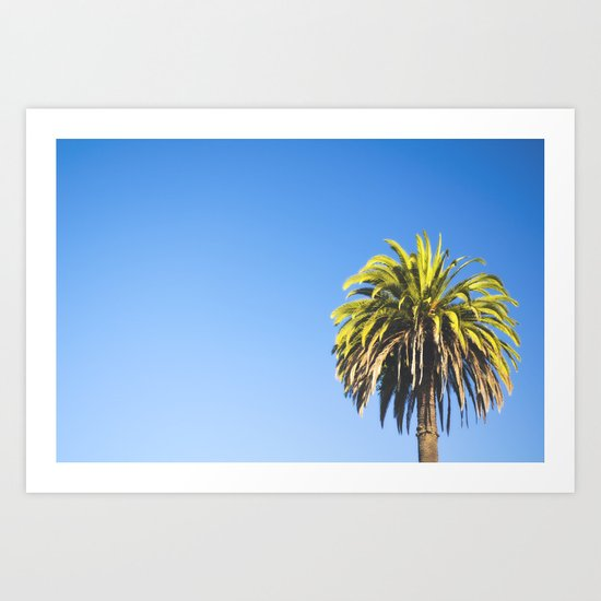 California Palm Tree Art Print