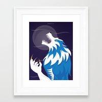 werewolf Framed Art Prints featuring Werewolf by Designsbyemjay
