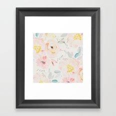 watercolor field Framed Art Print