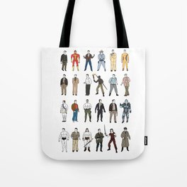 The many faces of Arnold schwarzenegger Tote Bag