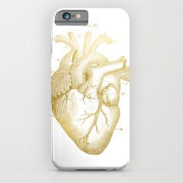 Gold Heart iPhone Case