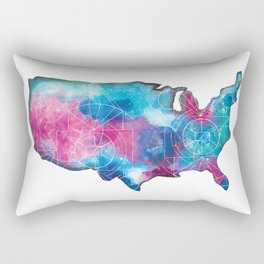 United States Space Map Rectangular Pillow